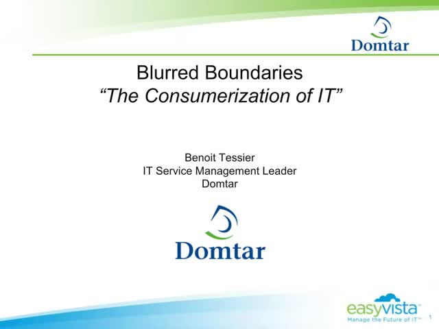 Blurred Boundaries - The Consumerization of IT