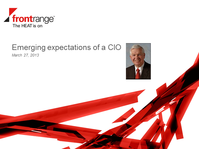 Emerging Expectations of a CIO