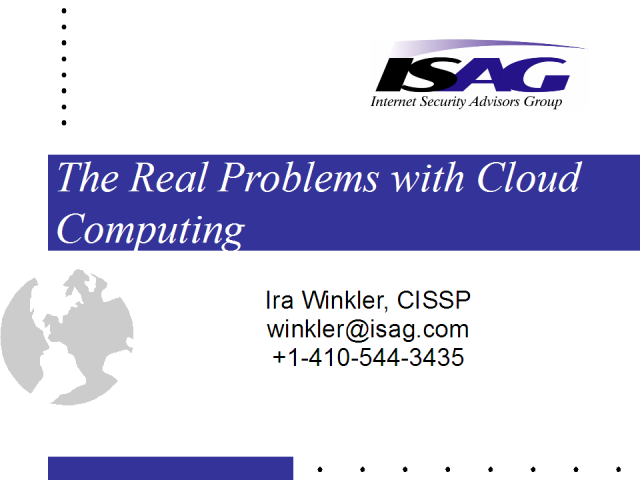 The Real Issues with Cloud Computing Security