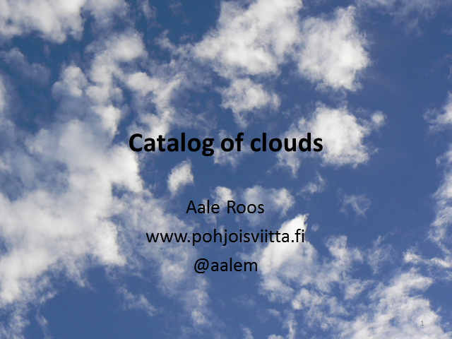 Catalog of Clouds