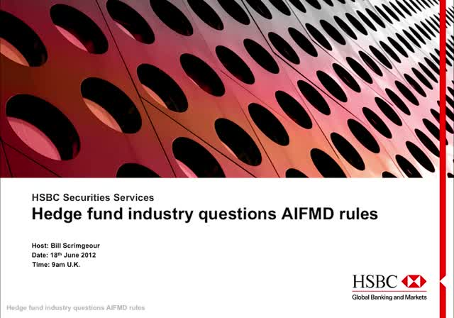 Hedge fund industry questions AIFMD rules