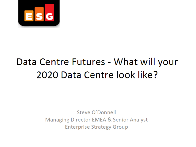 Data Centre Futures - What will your 2020 Data Centre look like?