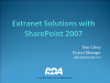Extranet Solutions with SharePoint 2007