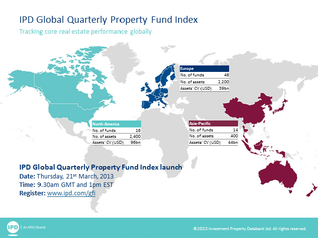 IPD Global Quarterly Property Fund Index launch