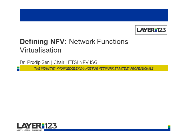 Defining NFV: Network Functions Virtualisation