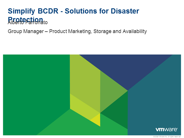 Simplify BCDR - Solutions for Disaster Protection