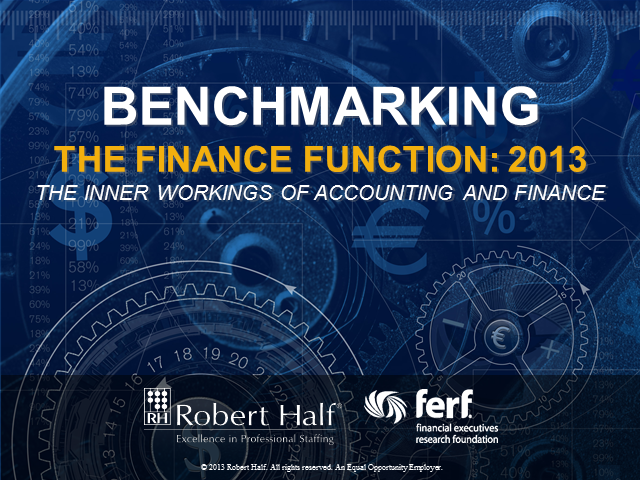 Benchmarking the Finance Function: 2013