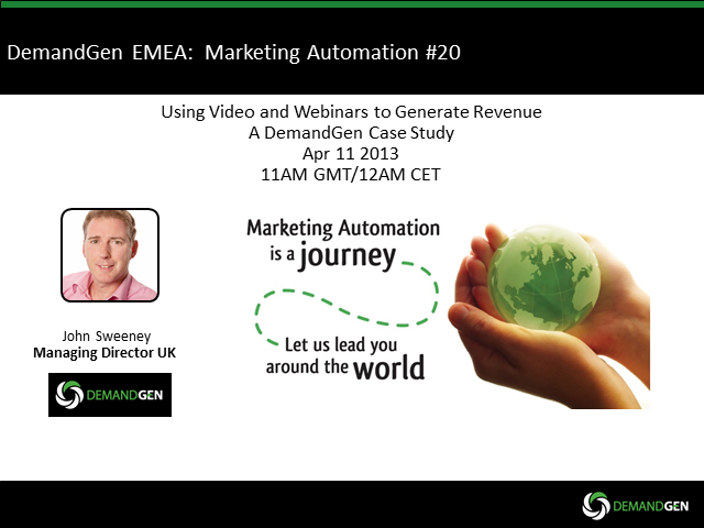 Using Webinars & Videos to Generate Revenue