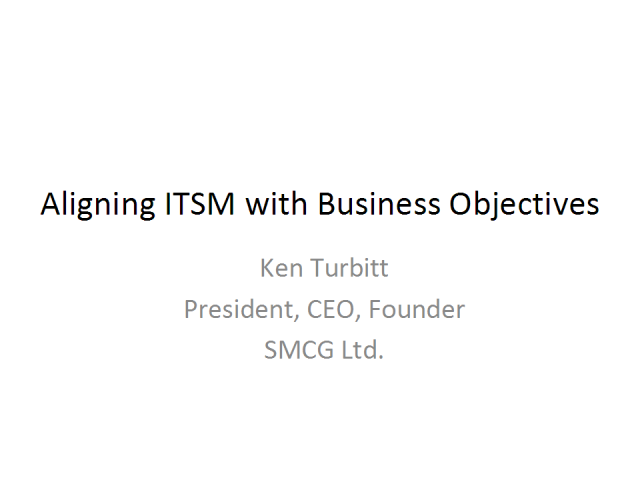 Aligning ITSM with Business Objectives