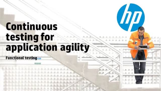 Continuous Testing for Application Agility: Functional Testing