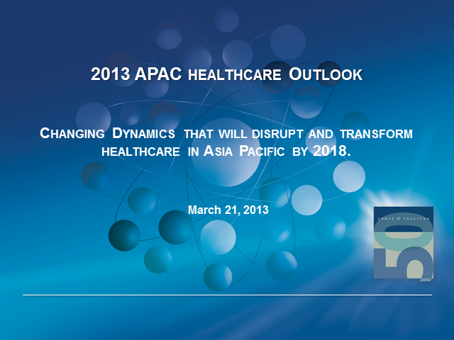 Top Five Growth Sectors in the Asia Pacific Healthcare Market