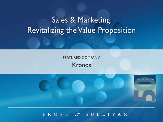 Sales & Marketing Case Study:  Revitalizing the Value Proposition