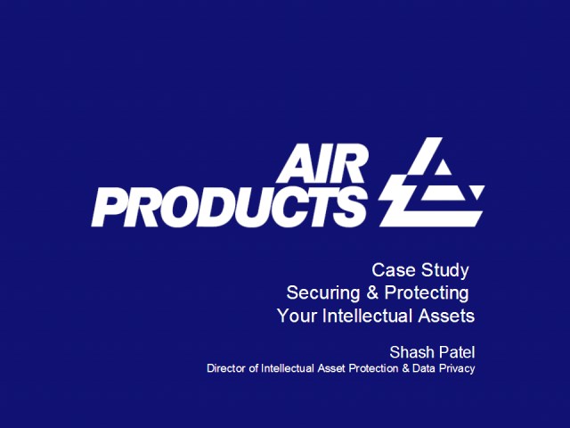 Case Study - Air Products: Securing your Intellectual Assets