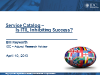 Service Catalog – Is ITIL Inhibiting Success?