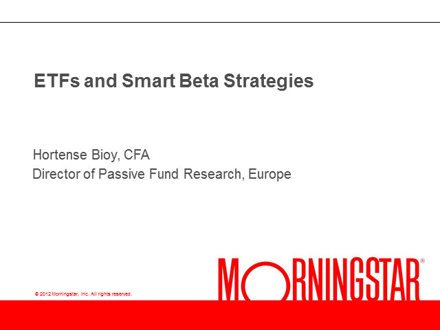 ETFs and  Smart Beta Strategies