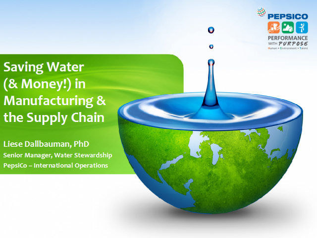 Saving Water (and Money!) in Manufacturing and the Supply Chain