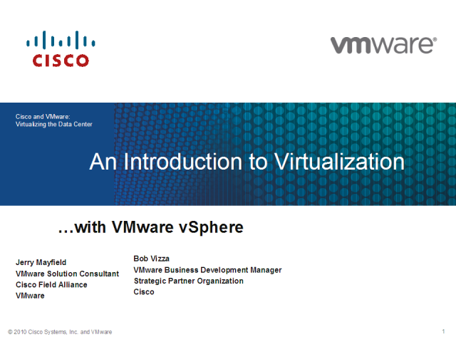 Server Virtualization Basics 201