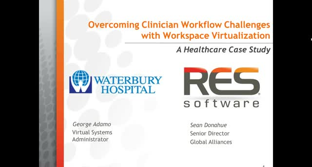 CASE STUDY: Overcoming Clinician Workflow Challenges w/ Workspace Virtualization