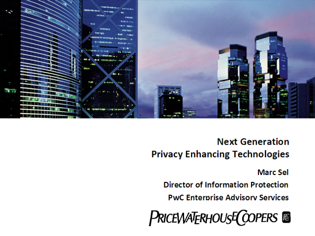 Next Generation Privacy Enhancing Technologies (PETs)