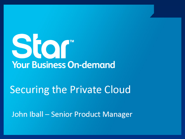Securing the Private Cloud