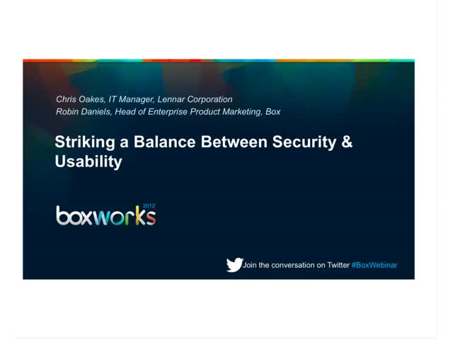 Striking a Balance Between Security & Usability