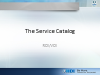 Service Catalog - The Value Proposition