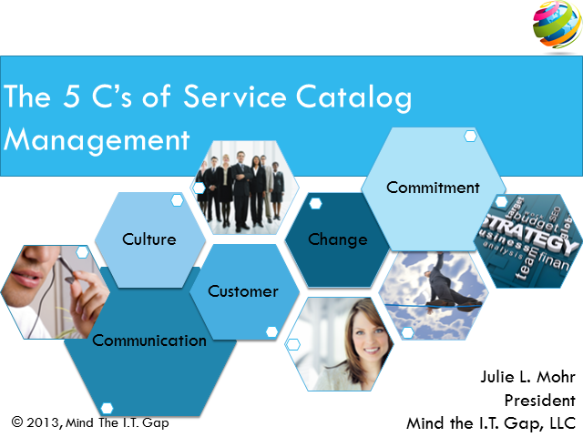 The Five C's of Service Catalog Management