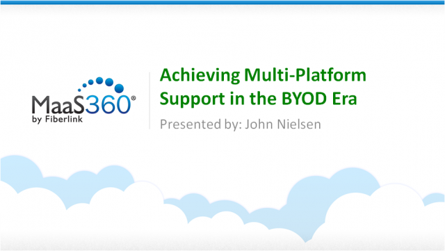 Achieving Multi-Platform Support in the BYOD Era