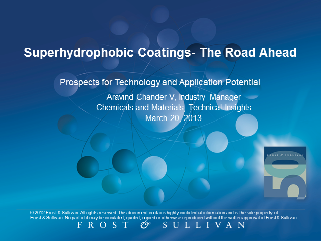 Superhydrophobic Coatings - The Road Ahead