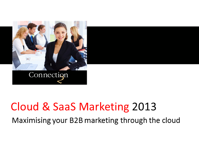 Maximising your B2B Marketing through the Cloud