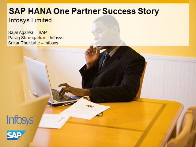 SAP HANA One: Partner Success Story - Infosys
