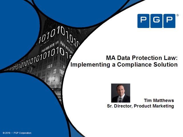 MA Data Protection Law: Implementing a Compliance Solution
