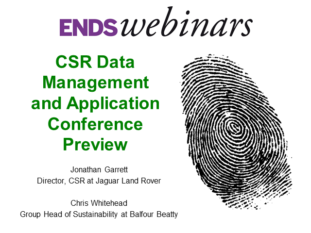 CSR with results: Data Management & Application Conference Preview