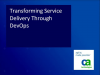 Transforming Service Delivery Through DevOps