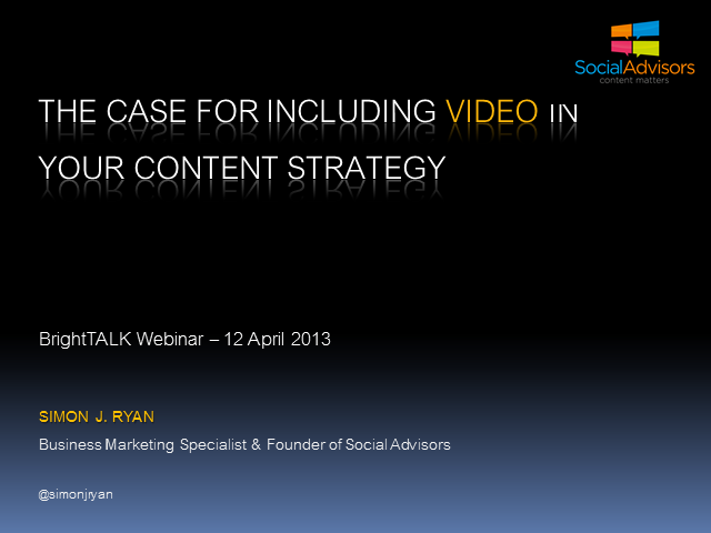 The Case For Including Video In Your Content Strategy