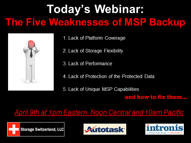 MSPs - The 5 Weaknesses Of Your Online Backup Offering And How To Fix Them