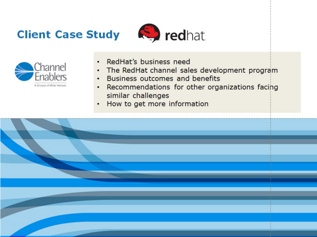 RedHat Global Channels Case Study