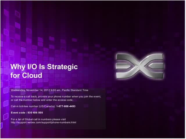 Emulex and IDC Present Why I/O is Strategic for the Cloud