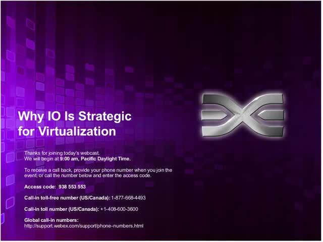 Emulex and ESG Present Why I/O is Strategic for Virtualization
