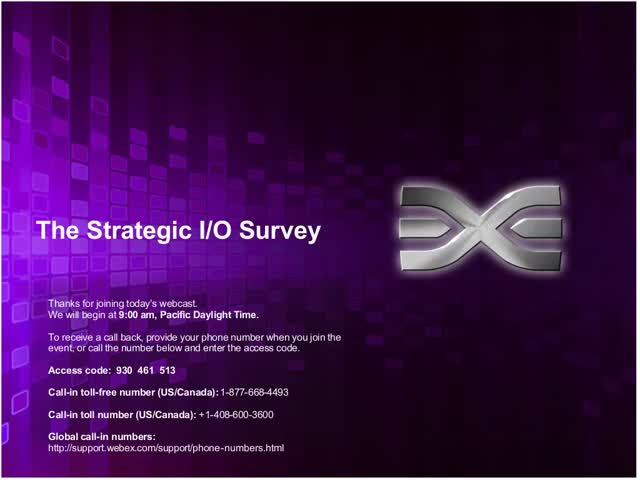 Emulex Presents Why I/O is Strategic Global Survey Results