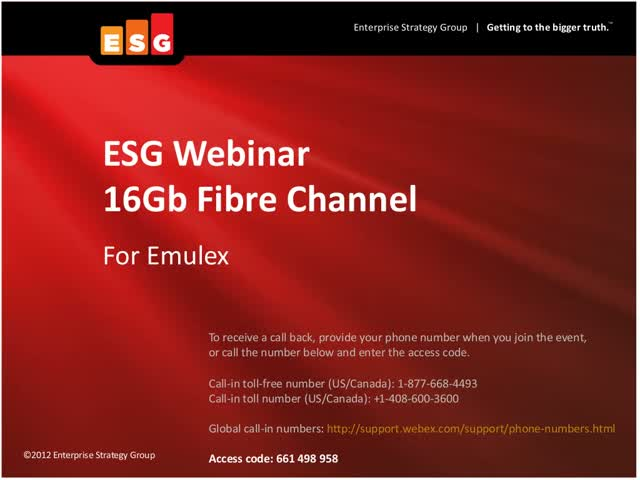 How to Increase Performance & Virtualization Efficiency with Emulex 16Gb FC HBAs
