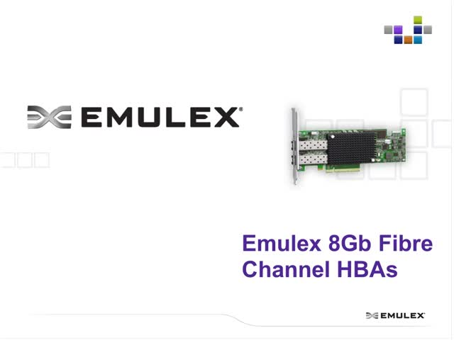 Maximize Server Refresh Revenue with Emulex 8GFC & Connect Partner Program