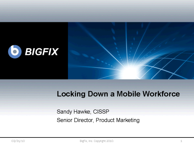 Locking down a mobile workforce