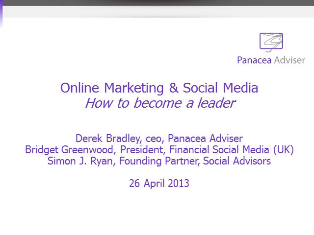 Online Marketing & Social Media - How to Become a Leader