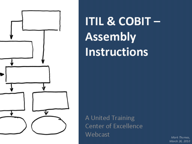 ITIL AND COBIT – ASSEMBLY INSTRUCTIONS