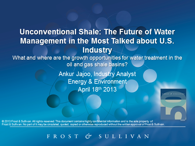 Unconventional Shale: The Future of Water Management