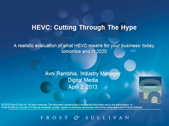 HEVC: Cutting through the Hype