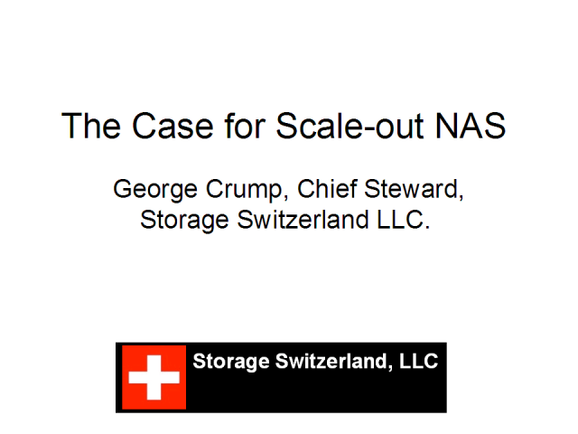 The Case for Scale-out NAS