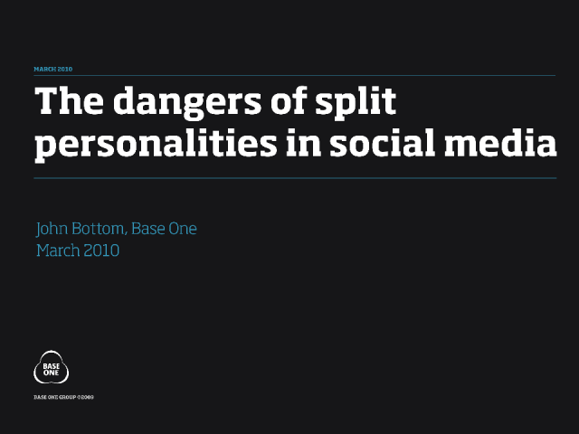 NEW: The Dangers of Split-Personalities in Social Media
