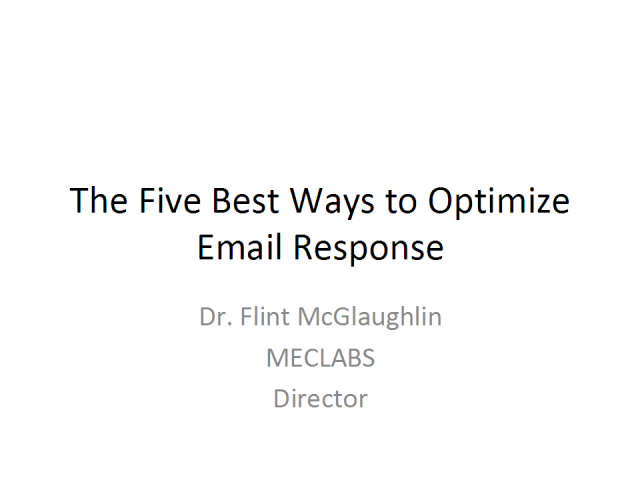 The Five Best Ways to Optimize Email Response